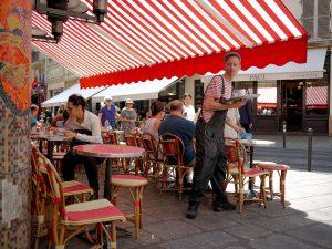 Waiter at the Café du Marché, Paris.